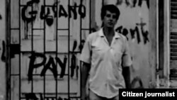 El desaparecido Oswaldo Payá luego que paramilitares pintaran su casa