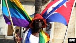 Marcha contra la homofobia en La Habana.