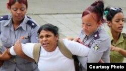 La Dama de Blanco Martha Sánchez está detenida desde el 11 de marzo pasado. (Archivo)