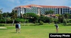 El campo de golf de Varadero, junto al hotel Meliá Las Américas.