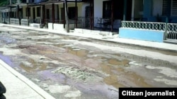 Reporta Cuba. Calles en Catalina de Güines. Foto: Ricardo Lázaro Fiallo López.
