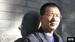 Fotografía de archivo de Wang Xiaofeng, uno de los más famosos blogueros de China, país en el que pese a la creciente censura los usuarios de Internet continúan aumentando. EFE/Marta Miera