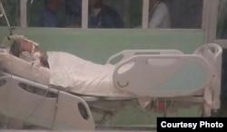 Raidel García Otero fue hospitalizado en una sala de cuidados intensivos de La Covadonga.