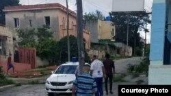 Arresto de Luis Manuel Otero Alcántara. (Tomado de Facebook de Amaury Pacheco)