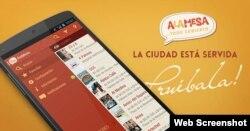 La aplicación para móvil de la guía de restaurantes cubanos Alamesa.