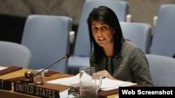 Embajadora de EEUU en ONU, Nikki Haley. (Archivo)
