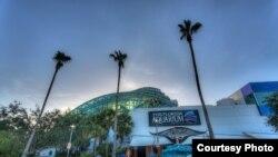 Entrada a las instalaciones del Acuario de Florida situado en Tampa.