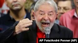 El expresidente brasileño Luiz Inácio Lula da Silva. (AP Foto/André Penner)