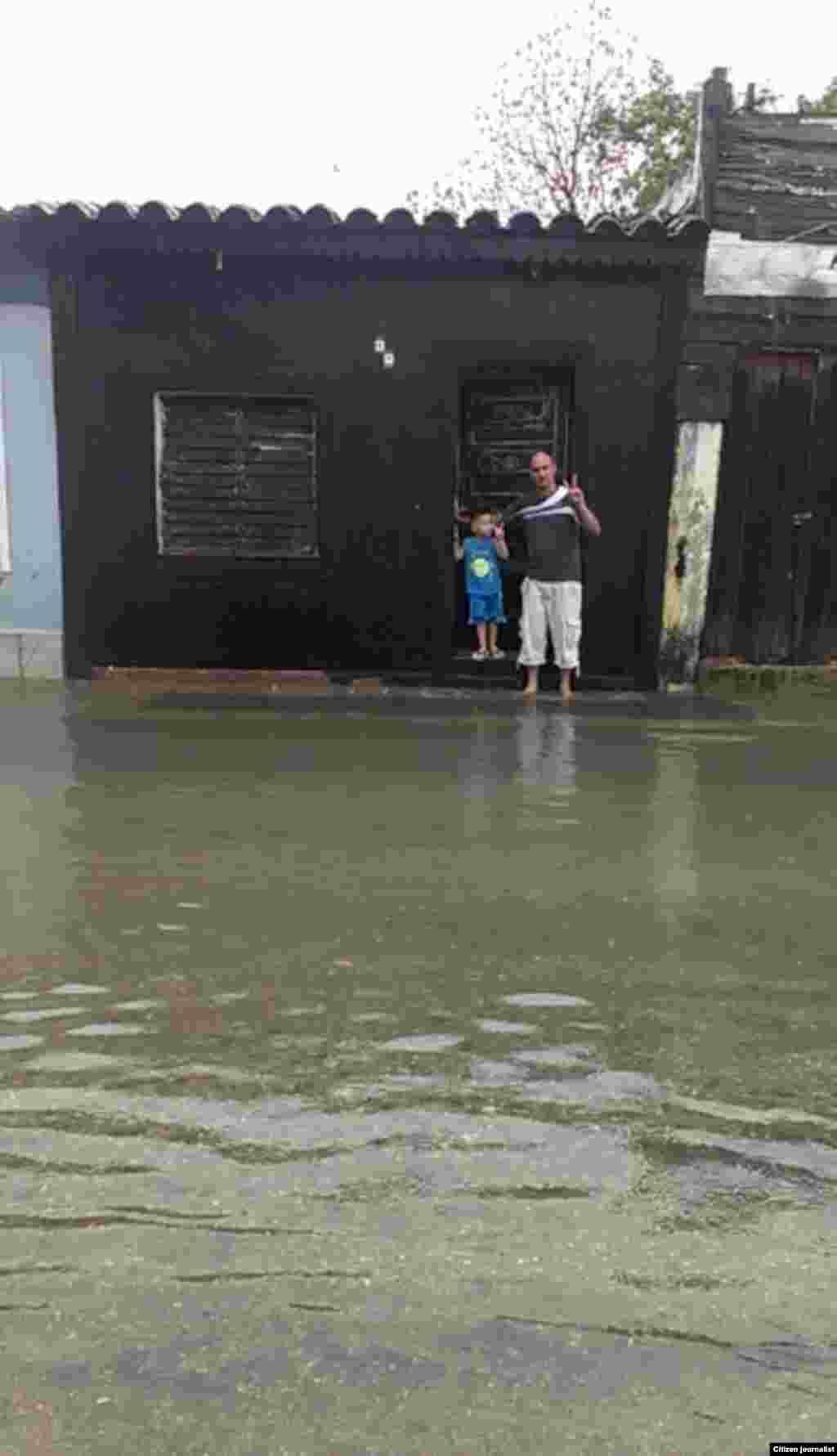 Inundación en Sagua La Grande /foto Didier Martínez