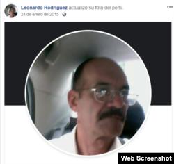 Perfil de Facebook (intervenido) de Leonardo Rodríguez