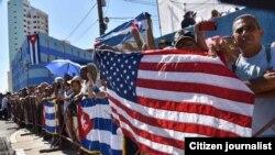 La ceremonia en La Habana vista desde Facebook.