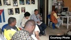 Reunión del Club de Escritores Independientes, La Habana, 2011.