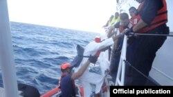 Los primeros rescates de balseros de la Guardia Costera en 2016