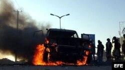 Bombardeos de la coalición árabe liderada por Arabia Saudí en Yemen.