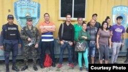 Nueve cubanos detenidos en Honduras.