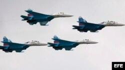 Aviones rusos de combate.