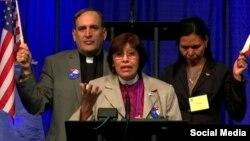 Momento en que la Cámara de Diputados aprueba por unanimidad recibir la Diócesis de Cuba en la Iglesia Episcopal. (Tomado de la cuenta de Facebook 'Latino/Hispanic Ministries of the Episcopal Church').