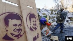 Protestas en Ucrania.