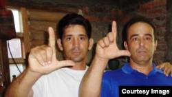 YordanMariño (izq.) y Eduardo Cardet del Movimiento Cristiano Liberación.