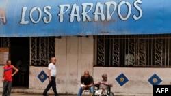 """La cafetería """"Los Parados"""" en La Habana."""