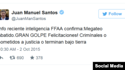 Twitter de Juan Manuel Santos