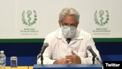El Dr. Francisco Durán, director de Epidemiología del Ministerio de Salud Pública de Cuba.