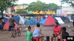 Refugiados venezolanos en la ciudad de Boa Vista, capital del estado de Roraima (Brasil).