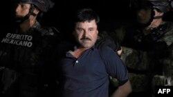 """Joaquin """"El Chapo"""" Guzmán tra su detención en Los Mochis, Sinaloa, en enero de 2016."""