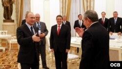 Raúl Castro encuentro con Vladímir Putin