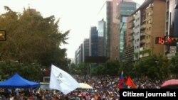 Manifestación en la Plaza José Martí