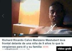 Presentación en Vimeo de un video comprometedor contra el volibolista cubano Ricardo Calvo Manzano.