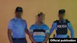 Vista del salvadoreño arrestado por las autoridades de Honduras.