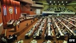 Fotografía de archivo de la Asamblea Nacional del Poder Popular. EFE/Alejandro Ernesto