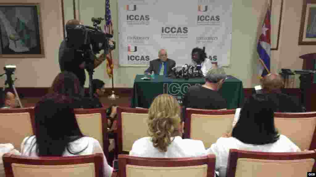 Conferencia de prensa de Berta Soler