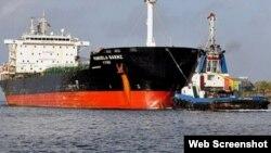 El tanquero de PDVSA Manuela Sáenz llega a Cuba cargado de petróleo venezolano. (Archivo)