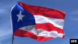 La bandera de Puerto Rico.