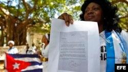 Las Damas de Blanco enviaron una carta de protesta al presidente Barack Obama por su visita a Cuba, que fue respondida por el mandatario.