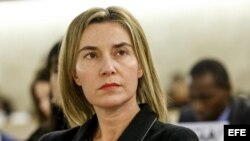 La alta representante de la UE para la Política Exterior, Federica Mogherini.