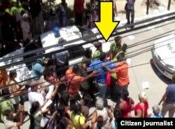 Represión contra Damas de Blanco en La Habana.
