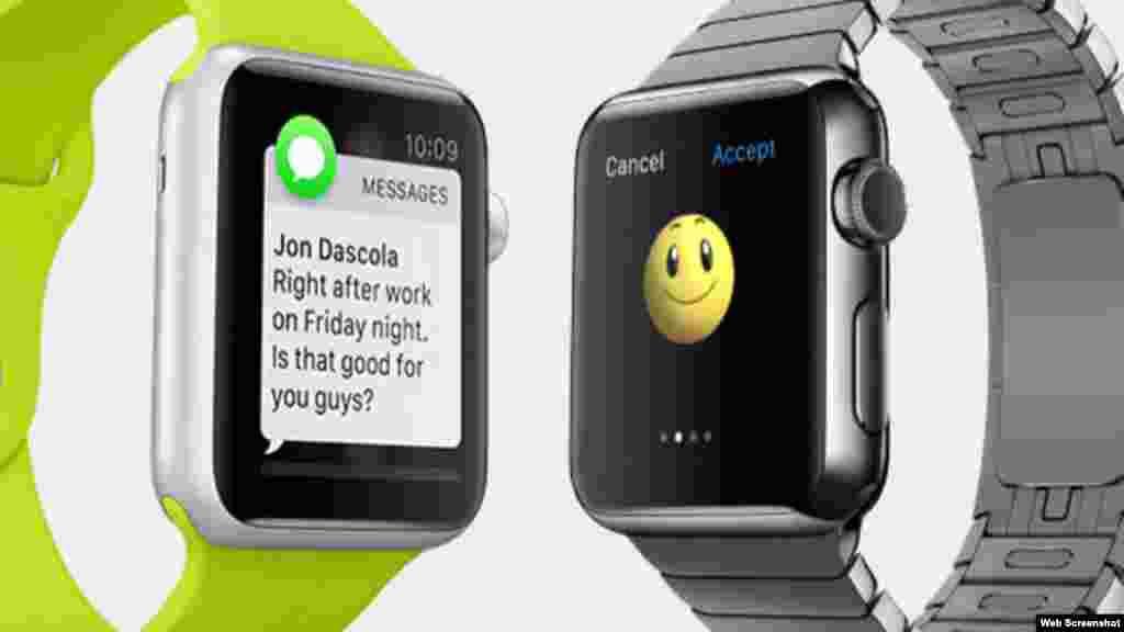 Diferentes modelos de reloj inteligente, el iWatch.