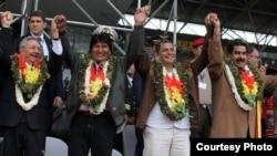 Reunión de los gobernantes latinoamericanos adscritos al ALBA