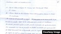 Quiñones Haces denuncia de puño y letra los abusos que recibe en prisión