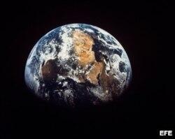 Vista del continente africano en La Tierra desde la Luna.