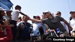 Senador Rubio visita centro de ayuda humanitaria en Cúcuta