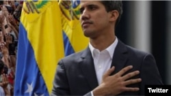 El presidente interino de Venezuela, Juan Guaidó. (Foto perfil Twitter)