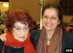 Nivaria Tejera y Madeline Cámara (Valencia, 2008). Foto: Grace Piney.