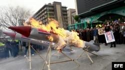 Protestas en Corea del Sur por los ensayos de su vecino