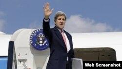 El secretario de Estado John Kerry, durante su visita a Cuba en 2015.
