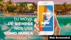 """Especial """"para los clientes nacionales"""", la plataforma Transfermóvil vende sus servicios en el órgano oficial del Comité Central del Partido Comunista de Cuba."""