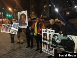Homenaje a Orlando Zapata y los miembros de Hermanos al Rescate en Washington.